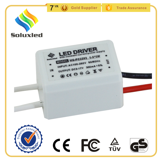 3W Led Panel Light Driver With Plastic Cover