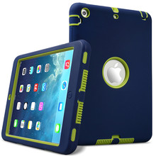 Free shipping PC+ Silicon Case cover for iPad mini 1 2 3