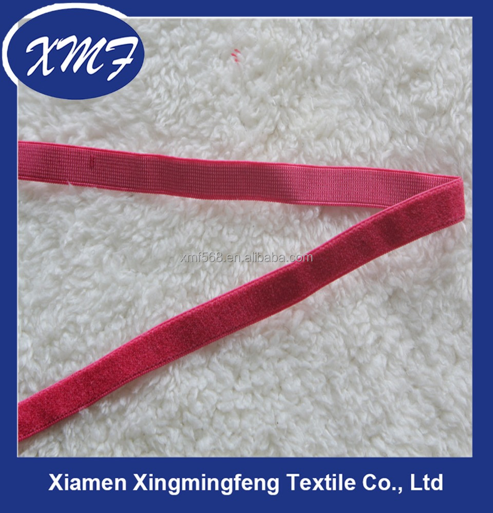 High quality rose red elastic band for underwear/sport bra with low price
