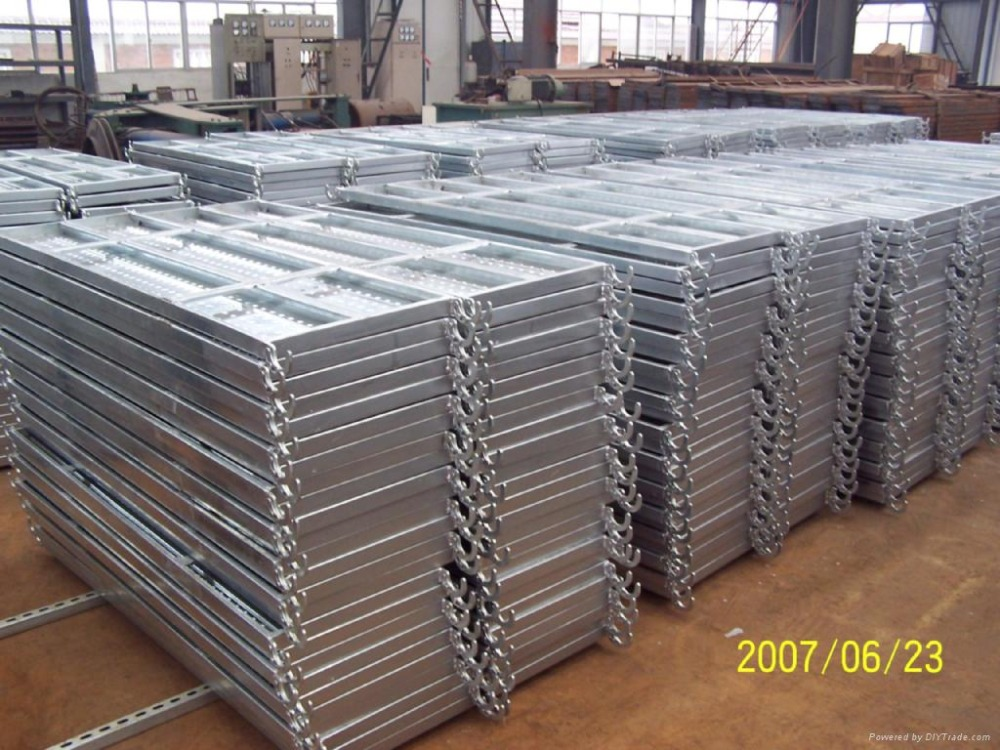 Steel Scaffold Planks : Hot dip galvanized scaffolding steel plank with hook made