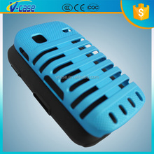 VCASE Silicone+PC Blue Pink Back Cover For Samsung Galaxy Gio S5660