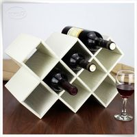 newest pu leather leather wine carriers for 2 bottles holder
