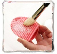 Durable silicone brush egg makeup cleaner