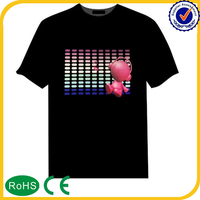 Hight quality products el flashing t shirt