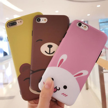 For iphone 4s/5/5s/6/6plus silicone cover cartoon toy case 3D teddy bear phone case phone cover for iphone 7
