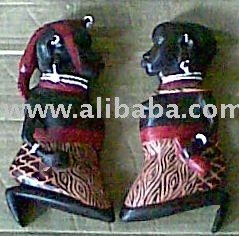 Wooden Maasai Wall Hanging \ Plaque Carving Craft