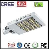 5 years warranty 30-300W Cree modular hurricane resistant 17 level 120W led street light with Bisu Lighting