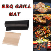 50cm x 40cm Reusable BBQ Grill Mat Hotplate Liner Oven & Baking Non stick Cooking Sheet