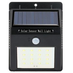 16 LED Solar Wall Light PIR Motion Sensor Outdoor Waterproof Energy-Saving Garden Street Lamp