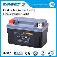 High quality rechargeable lithium ion battery for motorcycles starting use