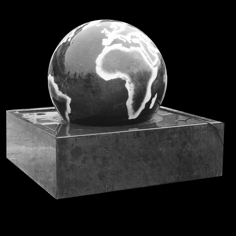 Simple modern marble levitating water landscape fountain