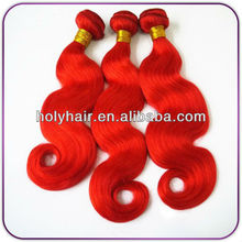 Alibaba China Trade Assurance Wholesale 3 bundles Red Brazilian Hair Weave