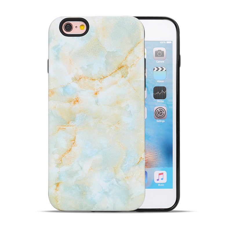 Factory Wholesale TPU PC Marble Stone Painted Phone Accessories Mobile Phone Case for iPhone 6 Plus