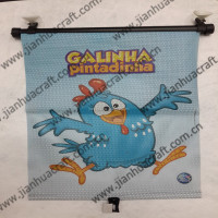 car sunshade with roll curtain nylon mesh ,GALINHA pintadinha