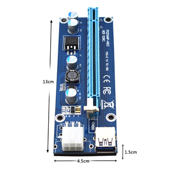 Deep In The Mines 6-Pin Powered PCI-E PCI Express Riser
