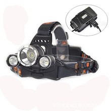 3pcs T6 rechargeable 18650 battery 3000 lumen waterproof 30W for camping hiking fishing zoomable LED headlamp