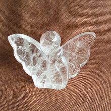 Desk Decoration Healing Crystal Quartz Thinking Angel Business Gift