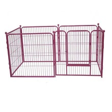 Folding pet fence large metal expandable puppy dog fence in malaysia MHD007