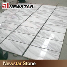 Sell shine marble floor tiles in white with black lines
