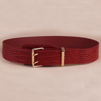 wp1046b Women PU Leather High Waist Belt