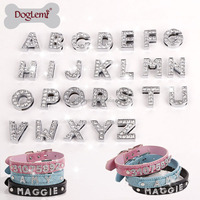 Bling Dog Collar Personalized Pet DIY Letter collars Rhinestone Buckle Puppy Collar