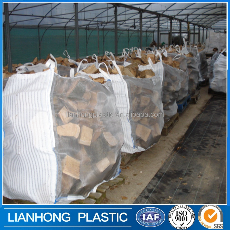 1500kg firewood big bag with factory price, 1 ton pp woven bulk bags super sacks, big firewood mesh bags