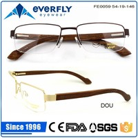 latest trendy designer wooden eyeglass frames with cheap price wholesale wenzhou factory