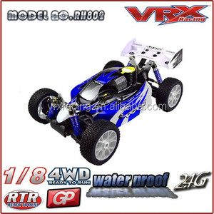 1/8 scale rc model car, 4WD nitro powered rc buggy
