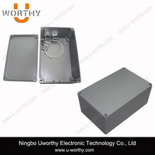 new product adc12 alloy die cast outdoor weatherproof wall mount electrical aluminum enclosure coated gray powder 188 120 78 mm