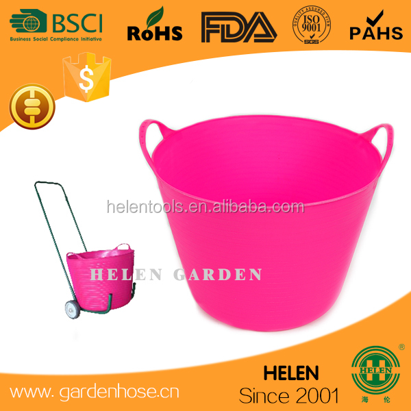 china factory rubber Pan,rubber buckets,Feed tubs,Rubber trough,cubo de goma 3gallon