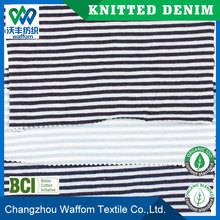 China striped fabric for t-shirt jeans