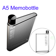 Logo Branding A5 Portable Memobottle, Best Quality BPA Free Plastic Sport Water Bottle
