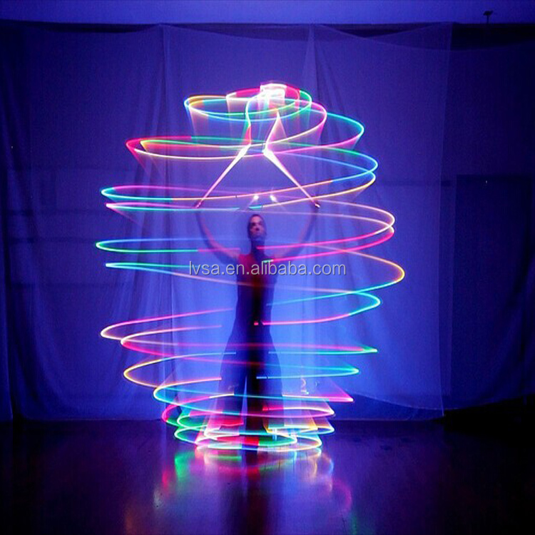 New Party Toys LED Poi Ball Color Changing Light Up Rubber Ball