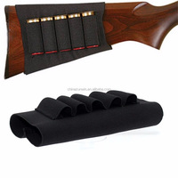 Hunting Accessories Airsoft Sports Gun Buttstock Rifle Hold 5 Shells Cartridge Holder/Ammo Carrier/Cheek Rest Pad