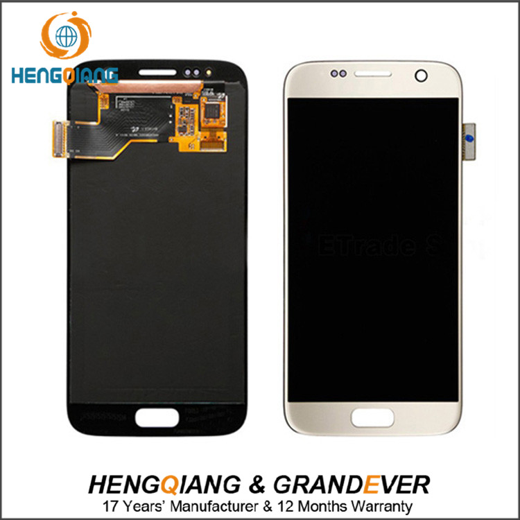 oem brand new high quality lcd for samsung S7 screen display complete