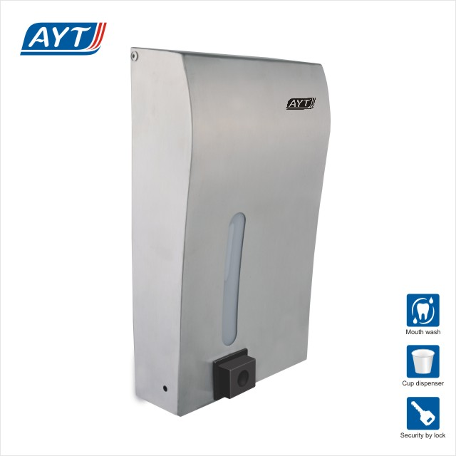 wall mounted hand mouthwash dispenser set