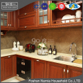 2017 new showroom modular new model solid wood kitchen cabinet