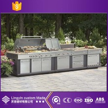 2017 new arrival balcony furniture stainless steel set outdoor kitchen cabinets wholesale manufacture in guangzhou