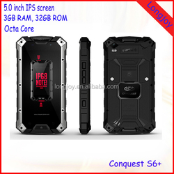 High Quality 4G Rugged IP68 Waterproof Smart Phone Conquest S6+ 5.0 Inch 3GB RAM 32GB ROM Android 5.1 IP68 Phone
