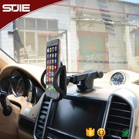 Customized flexible dashboard multiple car mobile phone holder with suction cup