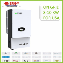 Growatt 10kw Solar On Grid Inverter 3 Phase 10000w Pv Grid Tie Inverter With Transformer Less Ul tuv csa Passed 5 Years Warranty