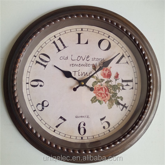 16inch office cool retro plastic wall clock for home decor