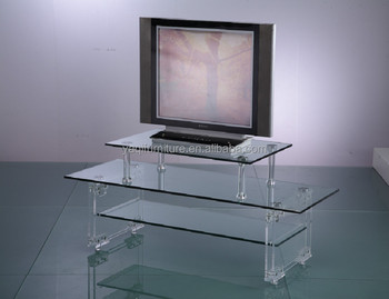 Transparent acrylic TV cabinet