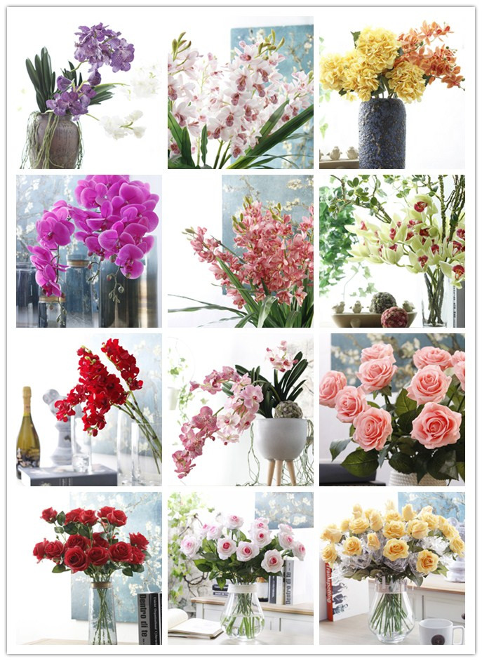 High Quality Artificial Flowers One Stem Hydrangea for Home Wedding Decoration
