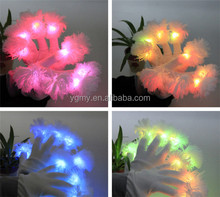 luminous flower finger light gloves party supplies dancing club props light up toys glowing unique gloves