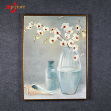 Modern design popular flower pattern watercolor custom oil painting on canvas