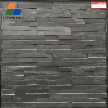 Wholesale black craft cultured stone slate cheap stone veneer for garden wall