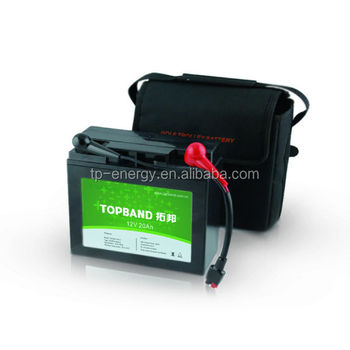 TOPBAND 12v 20ah Newest LiFePO4/lithium golf trolley battery pack(18holes/36holes/72holes) with PCM protection