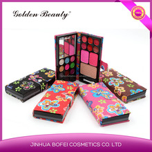Golden Beauty Flower design multi color eye shadow professional makeup eyeshadow palette
