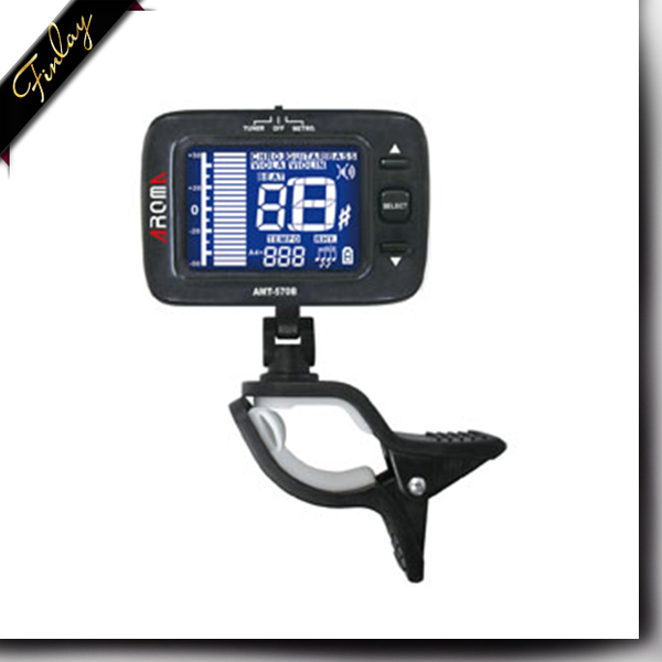 Clip-on Rechargeable Metronome and Tuner for Chromatic Digital Guitar Bass Violin Viola Metronome AMT-570B